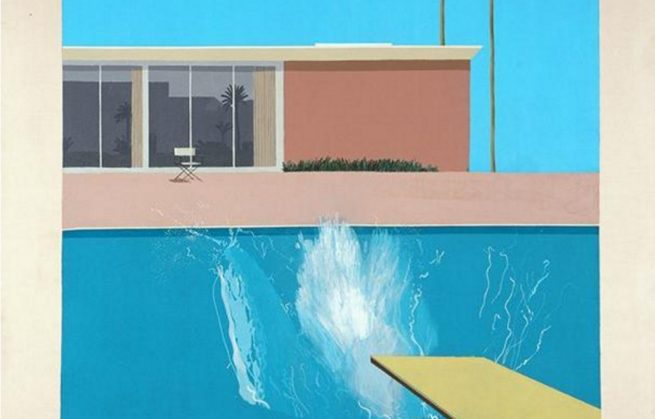 David Hockney, maître du Pop Art, à Pompidou