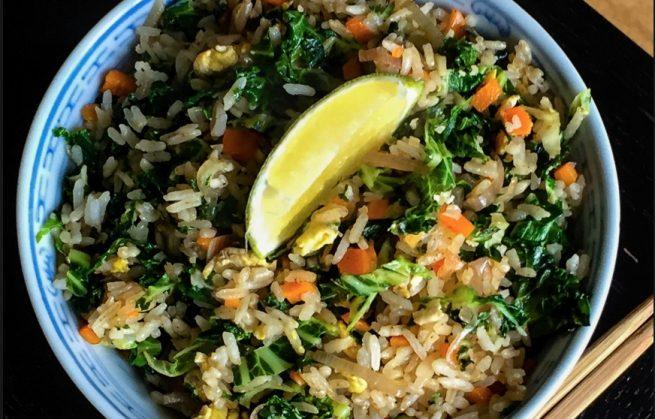 La recette Feel Good de Marc : riz sauté aux légumes et noix de cajou